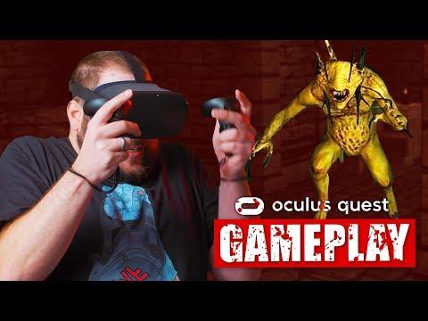Oculus Quest Horror Gameplay | Dreadhalls | QUESTober