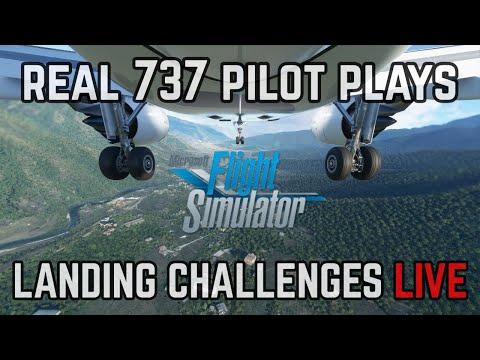 Microsoft Flight Simulator LIVE | Real 737 Pilot | Landing Challenges!