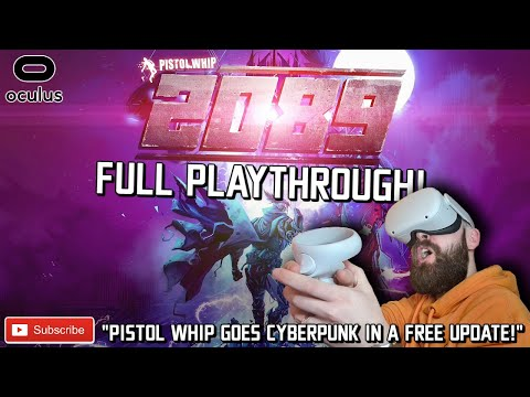 PISTOL WHIP 2089 FULL PLAYTHROUGH // Pistol Whip 2089 Oculus Quest 2 Gameplay Link - IT'S CRAZY!