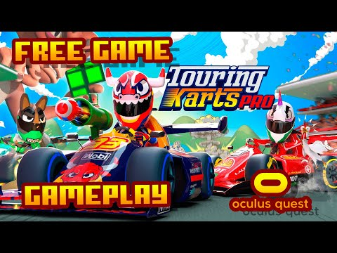 Touring Karts Pro - (Oculus Quest) - No Commentary Gameplay (High Quality 60 Fps)