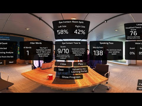 VirtualSpeech VR App - Features Demo