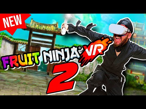 Fruit Ninja VR 2 Oculus Quest 2 LINK - This New Fruity VR Ninja Knows No Fear!!