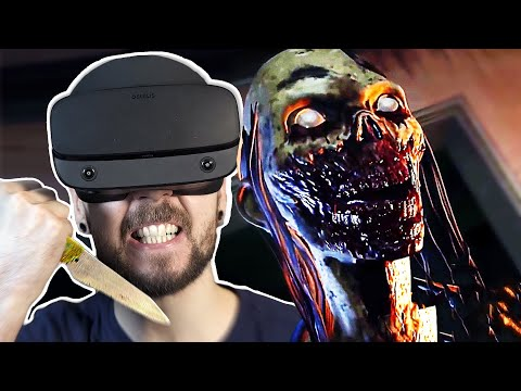 Fighting Zombies in VR is TERRIFYING | The Walking Dead Saints and Sinners VR #1