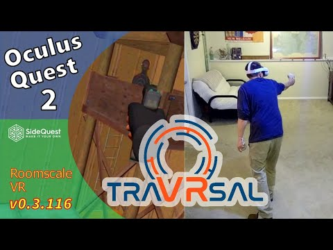 traVRsal Oculus Quest 2 Roomscale VR Review SideQuest FPS Gallery Room Scale