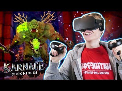 VR RPG DUNGEON CRAWLER!   Karnage Chronicles (Oculus Rift + Touch Gameplay)