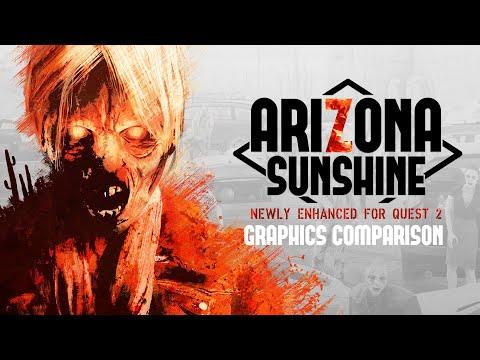 Arizona Sunshine | Quest 2 - Comparison Video [ESRB]
