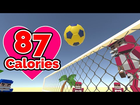 Volleyball Fever 🏀FITNESS TRACKED GAMEPLAY🏀