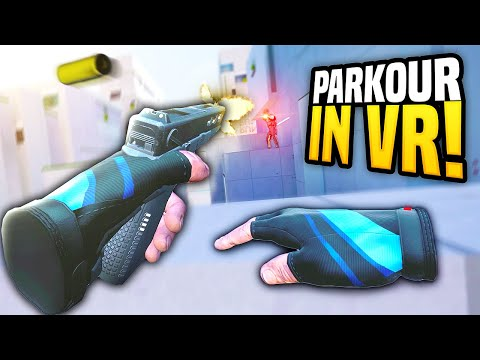 NEW PARKOUR GAME BUT IN VIRTUAL REALITY - Stride VR Gameplay