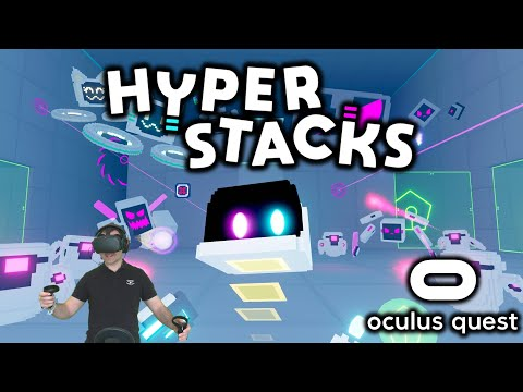 Hyperstacks a Free Puzzle Action Shooting Game for Oculus Quest and one of the BEST SideQuest games!