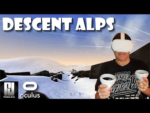 Descent Alps Impressions on Quest 2 - Baby Yoda goes Skiing! // Side Quest