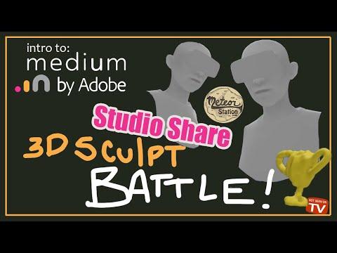 Intro to Medium by Adobe 2020 Studio Share | 3d VR Sculpt Battle | Medium VR Tutorial