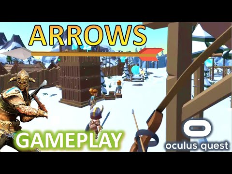 ARROWS VR Archery Tower Defense Gameplay - Bow & Arrow Castle Defense Demo Oculus Quest SideQuest