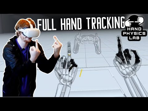 FULL HAND TRACKING in Oculus Quest 2   Hand Physics Lab VR - Virtual Reality