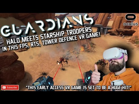 GUARDIANS VR Quest 2 Gameplay / This FPS, RTS VR Game Feels like Halo VR Quest / Guardians Quest 2