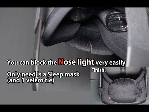 How to block the Oculus quest's light leakage under nose using sleep mask. 오큘러스 퀘스트 코밑 빛샘 없애는 방법