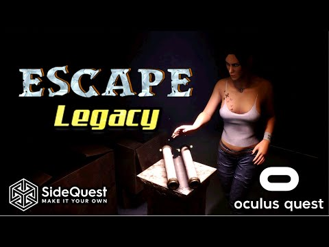 Escape Legacy Oculus Quest escape room puzzle game. First level gameplay and review.