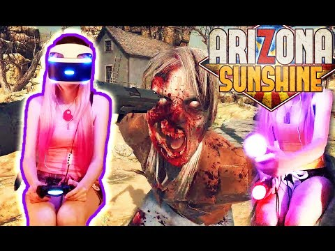 Arizona Sunshine VR (PS4 PSVR) Gameplay Part 1 w/ commentary