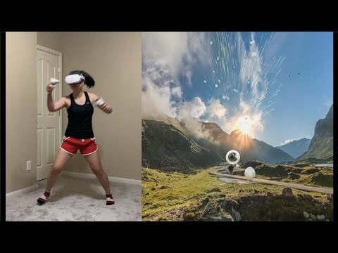 Supernatural VR Oculus Quest 2 gameplay - Queen - Don't Stop Me Now (High intensity) + warmup