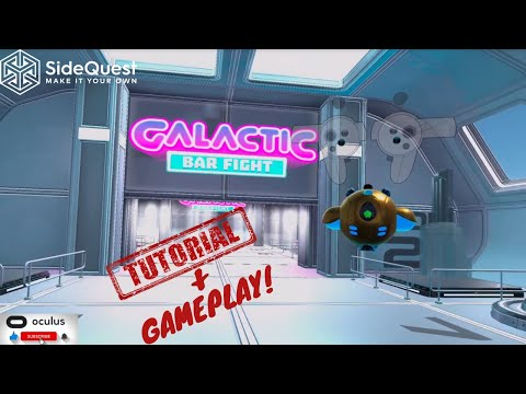 Galactic Bar Fight VR I Tutorial and First Bar Fight - Early Version Oculus Quest 2 Gameplay