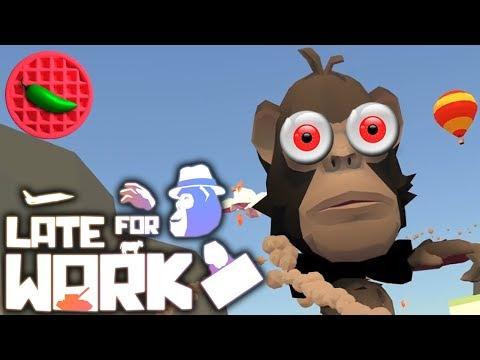 VR MEGA-GORILLA MULTIPLAYER! – Let's Play Late for Work (HTC Vive VR Gameplay)(Versus Multiplayer)