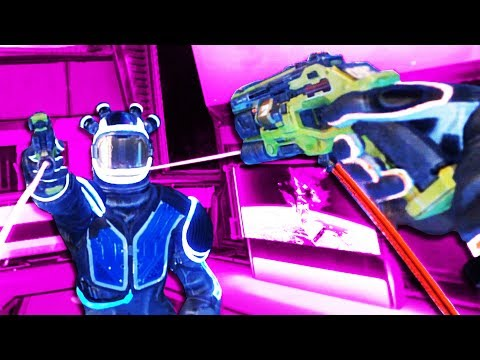 WE BLASTED EACH OTHER in THE FACE in Space Junkies VR!