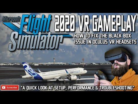 Microsoft Flight Simulator 2020 VR Gameplay // How To Remove Black Box Flight Sim 2020 VR