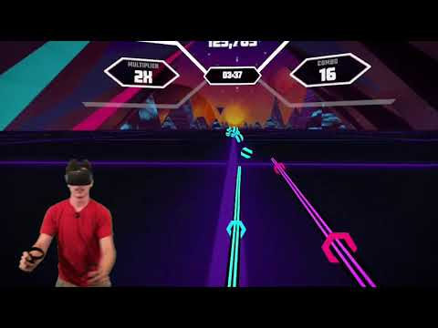 Expert Beat Saber Player Tries Synth Rider for the First Time (Synth Rider Oculus Quest)