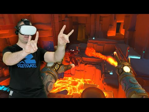 Tiny Castles Oculus Quest Hand Tracking action puzzle game! Available now for free on app lab.