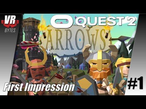 Arrows VR / Oculus Quest 2 [App Lab] / Deutsch / First Impression / Spiele / Test / Quest 2021