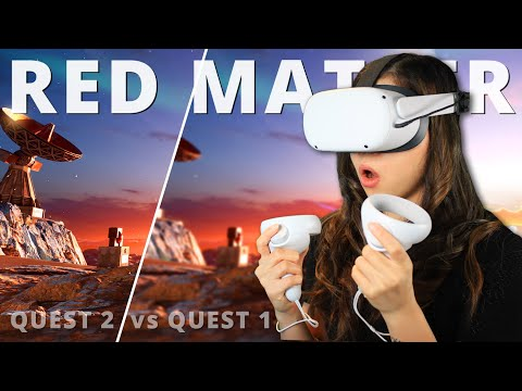 The FIRST Oculus Quest 2 High-Resolution Game – Red Matter (Side-By-Side Comparison)