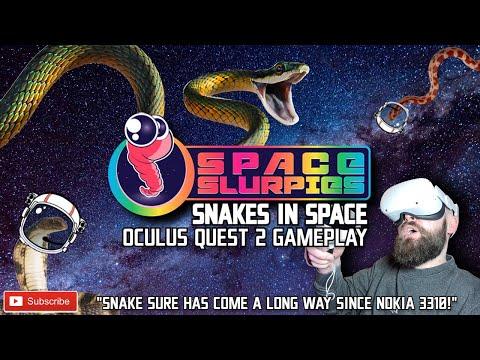 SPACE SLURPIES IS SNAKE VR! // Space Slurpies Oculus Quest 2 Gameplay // Snake Nokia 3310 VR!