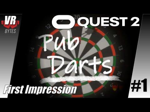 Pub Darts VR / Oculus Quest 2 [App Lab] / Deutsch / First Impression / Spiele / Test / Quest 2021