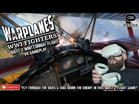QUEST 2 COMBAT FLIGHT SIMULATOR // Warplanes WW1 Fighters VR // Oculus Quest 2 Dogfight Gameplay
