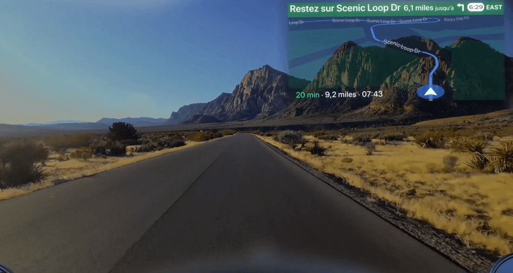 augmented reality examples: eyeride hud