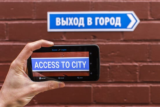 augmented reality examples: translation