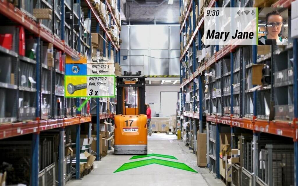 augmented reality examples: logistics