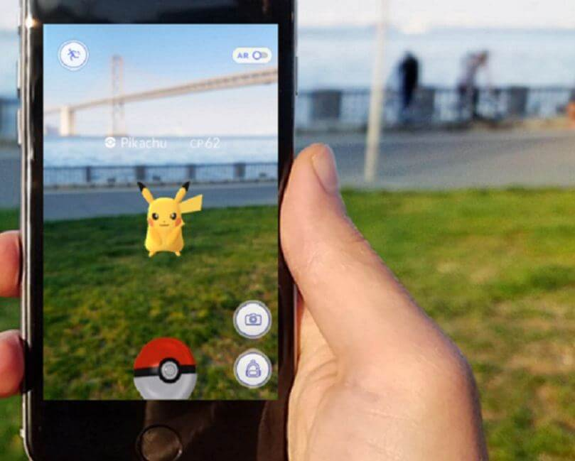 pokemon go augmented reality example