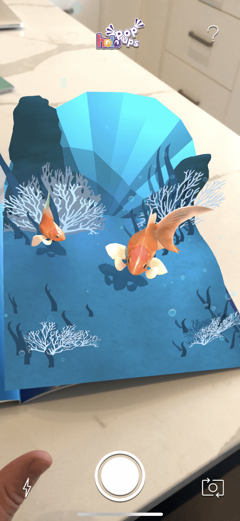 holo popups augmented reality fish
