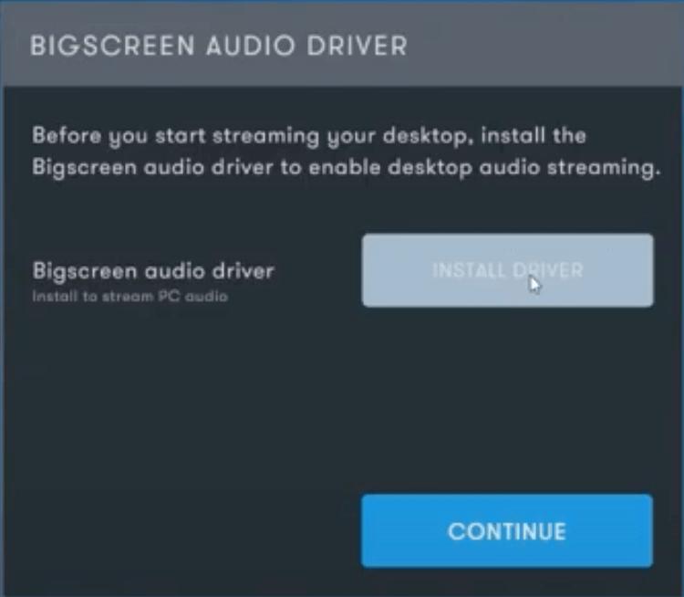 05 - bigscreen vr audio driver install