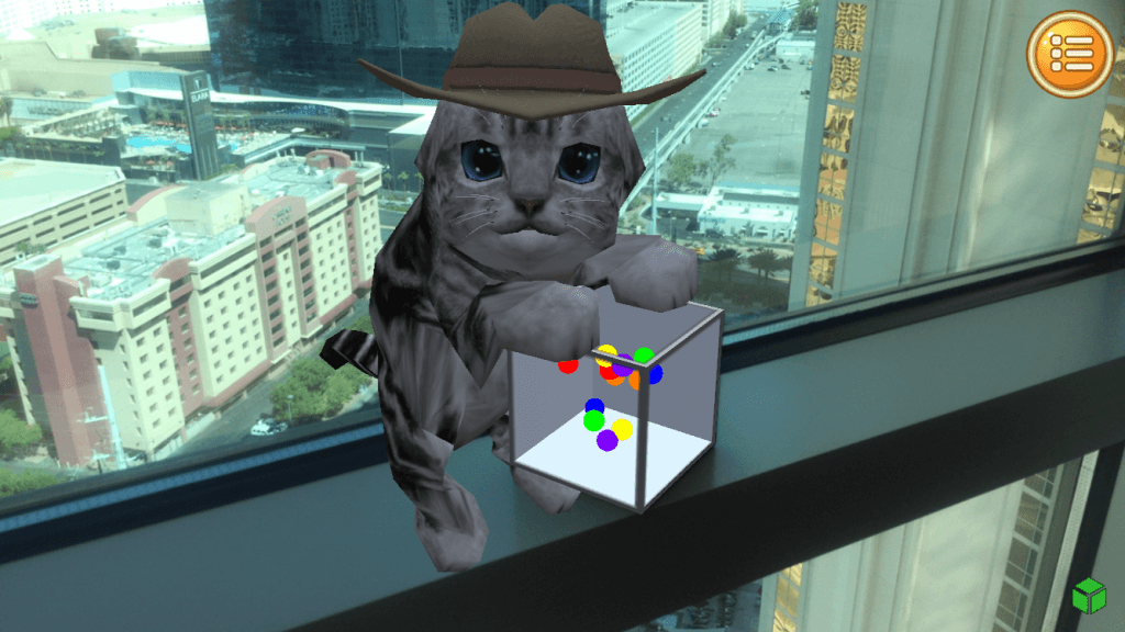 ar kitten merge cube app