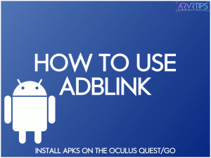 use adblink oculus quest 2