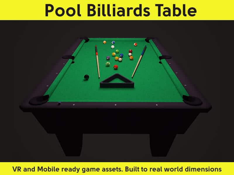 pool billiards table asset pack