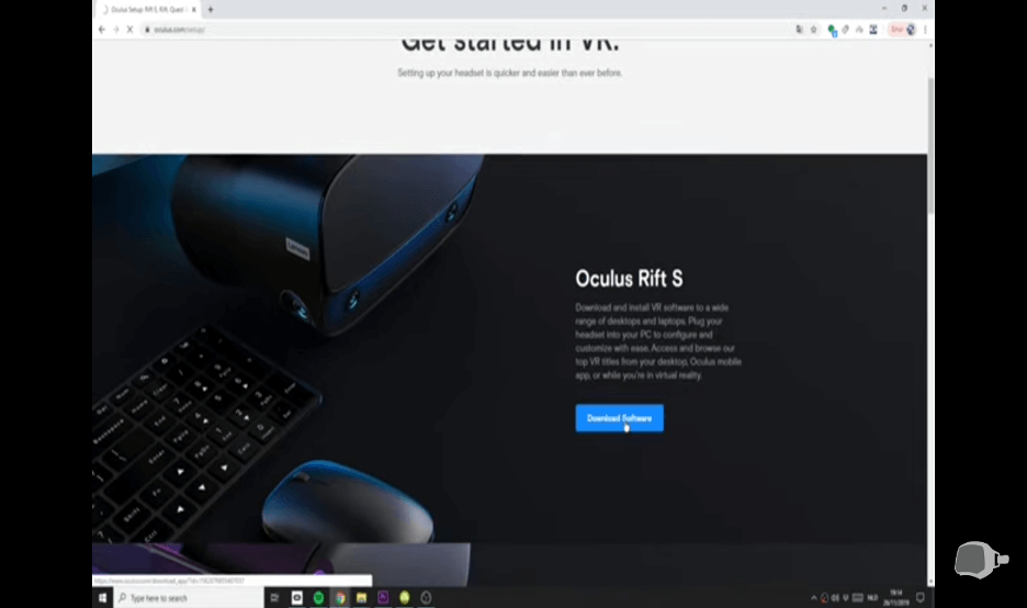 download and install oculus home