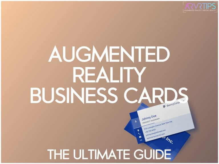 augmented reality business cafds