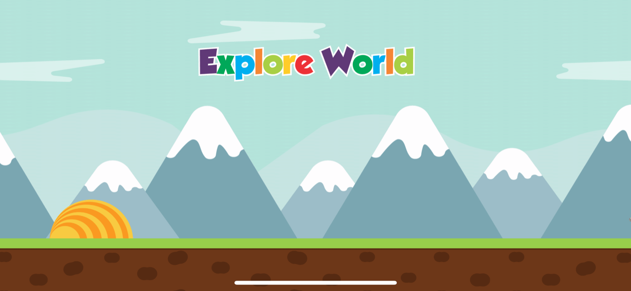 explore world splash screen