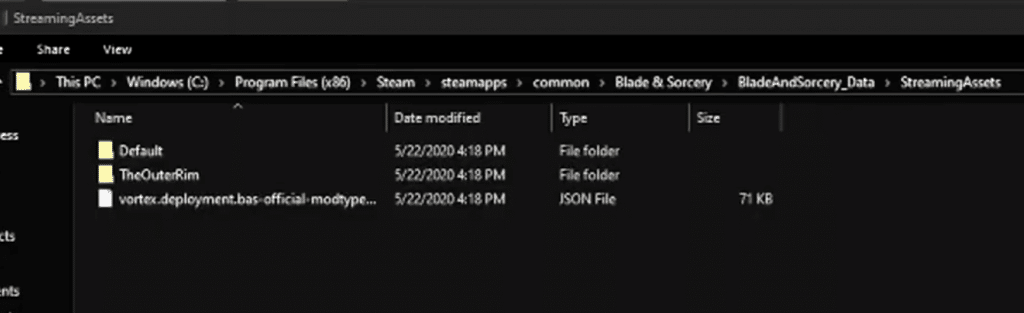 install blade and sorcery mods manually