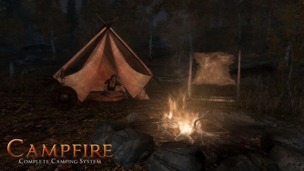 campfire skyrim vr mod