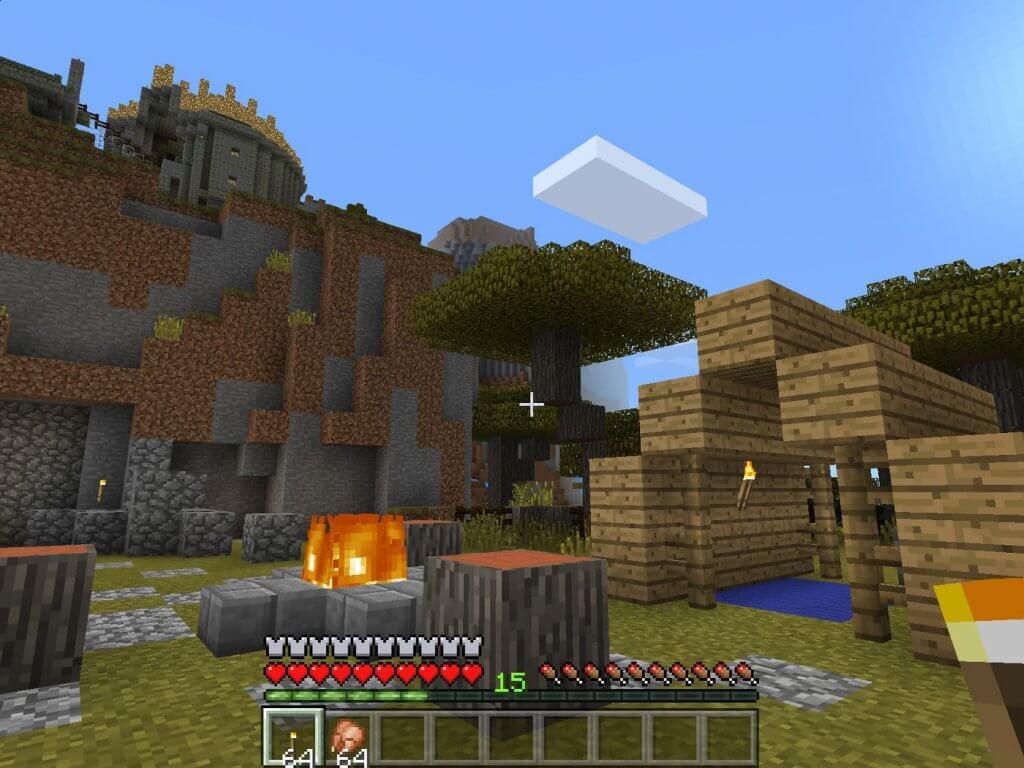 Minecraft vr gameplay