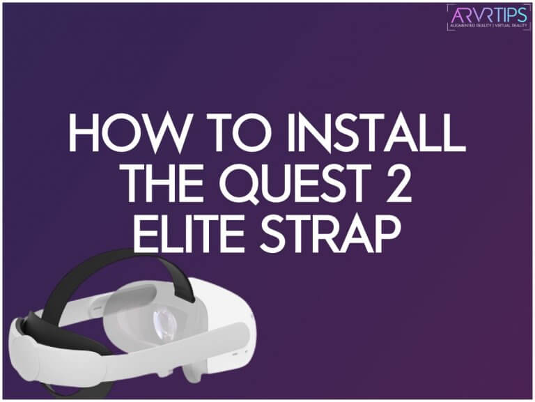 how to install the quest 2 elite strap