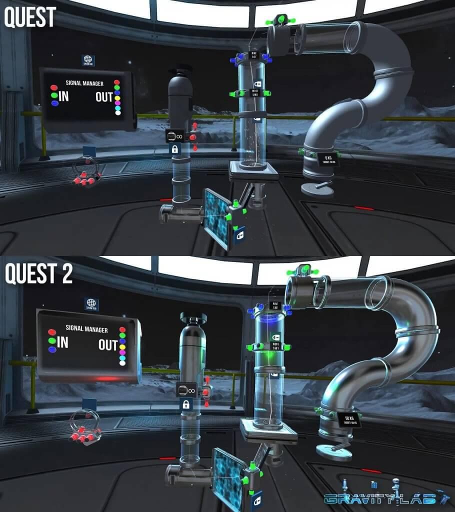 gravity lab quest 2 graphical comparison